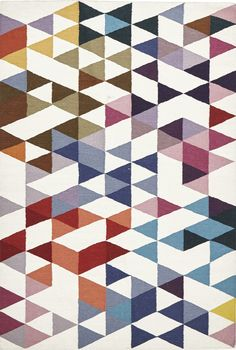 Kassel Multi-Coloured Geometric Flatweave Kilim Rug
