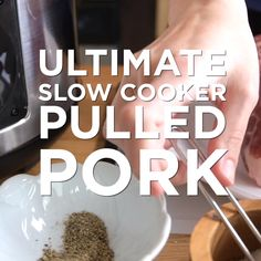 How to make the best pulled pork in the slow cooker that's perfect for sandwiches, salads, and tacos. For a quicker version, we have also shared how to make this pulled pork using a pressure cooker or Instant Pot.