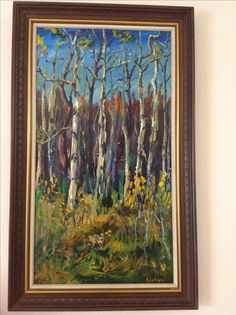 This is displayed in my living room. It's the only vertical painting I remember seeing in the old church gallery. Old Cabins, Algonquin Park, His Travel, Peterborough, Old Houses, Scenery, Old Things, Display, Living Room