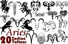 Some Aries Zodiac Tattoo Designs Tattoos Of