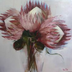 Artwork of Nicole Pletts exhibited at Robertson Art Gallery. Original art of more than 60 top South African Artists - Since Protea Art, Rose In A Glass, Red Artwork, South African Artists, Smart Art, Flower Art, Art Flowers, Encaustic Art, Botanical Illustration