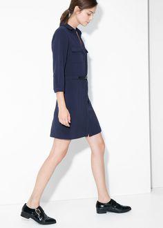 Belt shirt dress