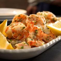 10-Minute Lemon-Garlic Marinated Shrimp Recipe-- only 84 calories per serving!