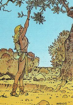 86_THE GARDEN OF AEDENA | Moebius collector card 86. The gar… | Flickr
