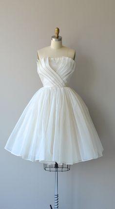 White Origami dress vintage 1960s dress white por DearGolden