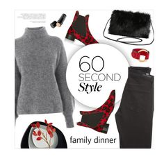 """60 Second Style: Family Dinner"" by magdafunk ❤ liked on Polyvore featuring Warehouse, Topshop, Torrid, Marni, Citizens of Humanity, Beauty Is Life, Kartell, turtleneck, chelseaboots and holidaystyle"