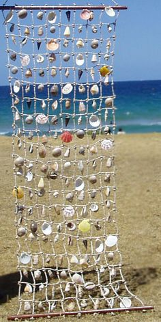 curtains in my beach shack Seashell Crafts, Beach Crafts, Seashell Art, Mobiles, Beaded Curtains, Beach Shack, Beach House Decor, Beach Art, Beach Cottages