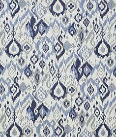 Pindler Pindler Fontaine Indigo - $42.9 | onlinefabricstore.net. This is the fabric used in the great room curtains hgtv smart home 2014.