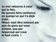 Karma et amitié Citations Regrets, French Quotes, Enough Is Enough, Knowledge, Messages, Sayings, Words, Mantra, Parfait