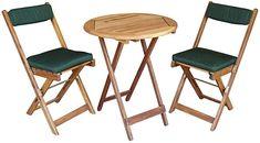 """im Nachinhein ein Fehlkauf  Holzmöbel / Balkonsets / Verpackungseinheit: 1 Akazienholzbalkon-Set """"Kreta""""• Aus geöltem Akazienholz mit verzinkten Beschlägen• 2 Stühle mit Kissen + Tisch • Aus geöltem Akazienholz mit verzinkten Beschlägen • Tisch-Ø: 60 cm • H: 72 cm. aus geoeltem Akazienholz Bestehend aus: 2 Klappstühlen inkl. Sitz- und Rückenkissen & 1 Klapptisch Ø60 cm, rund Leichte Handhabung Maße für Klappstühle: 38 x 43 x 79 cm Maße für Klapptisch: Ø 60 x 72 cm  Garten, Gartenmöbel… Creta, Outdoor Furniture Sets, Outdoor Decor, Acacia Wood, Home And Living, Dining Chairs, Cushions, Home Decor, Living Products"""