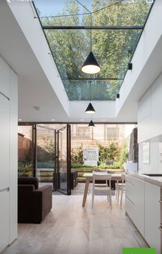 haus design Skylights are one of the best ways if you want to include outdoor shades into your home. This decoration emphasizes abundant natural lighting and allows your interior to become Roof Design, Küchen Design, Design Case, Design Ideas, Design Elements, Design Inspiration, Small Kitchen Solutions, Roof Light, Modern Kitchen Design