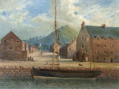 North Berwick Harbour with Boat '149LH' Tied Up: James W Greig