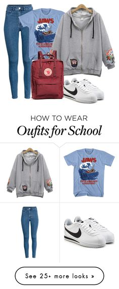 """school"" by manu74 on Polyvore featuring Fjällräven and NIKE"