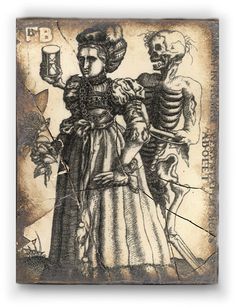 Sid Dickens Time and The Maiden memory block. Love the skeleton!