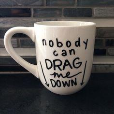 One Direction Drag Me Down Lyric Mug