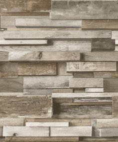 - Non-Woven Wallpaper with wooden design in beige and brown of the collection Facade by GranDeco. B&q Wallpaper, Wooden Wallpaper, Embossed Wallpaper, Wallpaper Online, Wallpaper Lounge, Diy Tapete, Fantastic Wallpapers, White Wood Kitchens, Faux Walls