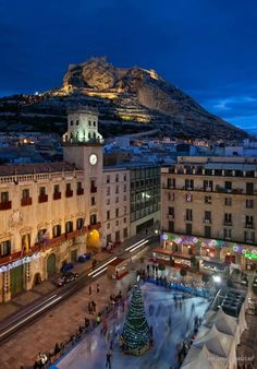 Alicante Town Hall Square at Christmas Oh The Places You'll Go, Great Places, Places To Travel, Travel Destinations, Beautiful Places, Places To Visit, Spain And Portugal, Am Meer, Culture Travel