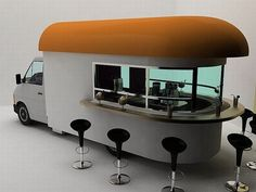 mobile coffee shop/ Daniel Milchtein  via: mehdibenhamida