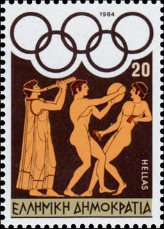 Sello: Los Angeles 1984 - Athletes preparing for the games (Grecia) (Olympic Games 1984 - Los Angeles) Mi:GR 1574 Postage Stamp Design, Postage Stamps, Greek History, Stamp Collecting, Mail Art, Ancient Greece, Olympic Games, Travel Posters, Vintage Posters