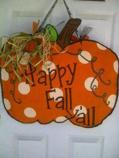 Fall Burlap door hanger-- I think I could make this. & Burlap Door Hanger Template | ... ://www.etsy.com/listing/160334177 ...