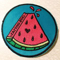 Watermelon tattoo idea with heart as a pip