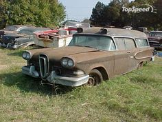 I've seen Edsels...seen station wagons...ambulances...but now many Edsel Ambulances could there be in the entire world??