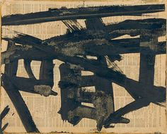 Untitled (Study for Mahoning),   Franz Kline, c. 1951. Opaque watercolor on paper, 8 15/16 × 11 1/8 in. (22.7 × 28.3 cm). Whitney Museum of American Art, New York;