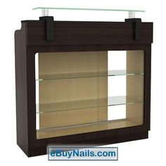 Berkeley Reception Table with Display - High Quality Pedicure Spa, Manicure Salon Furniture Spa Pedicure Chairs, Pedicure Spa, Nail Salon Furniture, Beauty Salon Names, Spa Chair, Reception Table, Storage Cabinets, Bathroom Medicine Cabinet, Shelving
