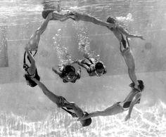 Taking the plunge: San Francisco swimwear through the decades Barbara Cooney, San Francisco Beach, Swimming Photography, Synchronized Swimming, Open Water Swimming, Body Reference, Swim Team, Bikini Workout, Ocean Beach
