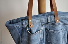 A tote from old pair of jeans from pm-betweentheline...