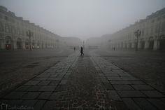 Nebbia, Piazza San Carlo, Torino