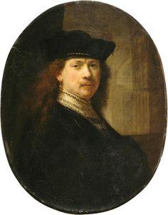 Rembrandt, autoritratto col tocco su sfondo architettonico, 1640 ca. 02.JPG