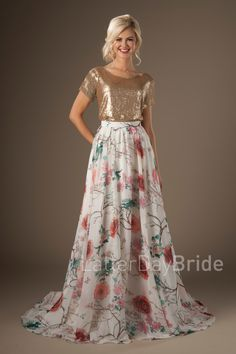 Ursa & Rigel - mix and match modest bridal! From the Latterday Bride Collection, found at Gateway Bridal in SLC
