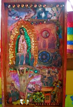 Interesting Guadalupe collage from @DissyB at Etsy.