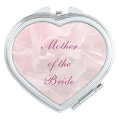 Poppy Petals Wedding Mother of the Bride Compact Mirrors