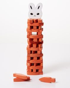 See who can hippity-hop to the tippity-top! In this stacking game, construct a tower of carrot-shaped blocks and see how high you can go before it topples over.$25, kikkerland.com