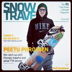 Issue 6 - A classic cover, featuring Peetu Piiroinen. Inside you'll find out all about China's ski resort scene.