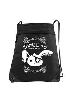 Gothic Cinch Backpack bag Usagi Rock Bunny by Gesshoku