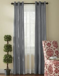 Black Oxford Stripe Panels Countrydoor.com Window Coverings, Window  Treatments, Dining Room Inspiration