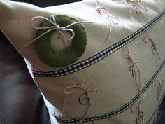 diy advent pillow