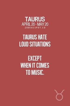 Be calm with taurus