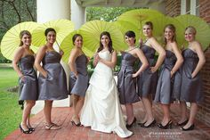 Love these green parasols!   Photo By: www.catherineguidry.com