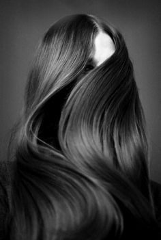 healthy, straight, long and flowing.........