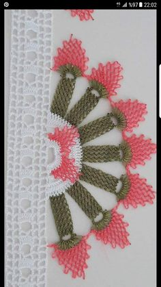 This Pin was discovered by HUZ Woolen Craft, White Eyeliner, Bargello, Filet Crochet, Knots, Elsa, Diy And Crafts, Embroidery, Flowers