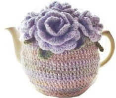Rosy Cozy 6 Cup Teapot Cozy Crochet pattern by Joan Lester Crochet Geek, Crochet Home, Knitting Patterns, Crochet Patterns, Crochet Tea Cosy Free Pattern, Knitted Tea Cosies, Lilac Roses, Front Post Double Crochet, Tea Cozy