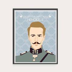 The Grand Budapest Hotel - Portraits. #grandbudapest #grandbudapesthotel #wesanderson #wesandersonposter #movie #poster #film #illustration #graphic #design #drawing #print #vector #vectorart #art #agatha #gustave #mrgustave #zero #mendls