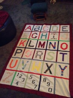 Alphabet quilt.  MADE 3 GIVE TO GRANDDAUGHTER, AND GREAT GRAND DAUGHTERS