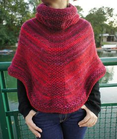 Free Pattern Ravelry: marln's Poncho fruits rouges