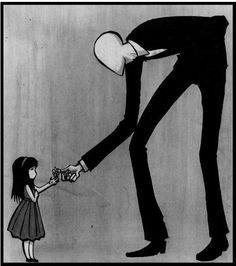 Slender man was just chasing you to give you a flower! awwwww