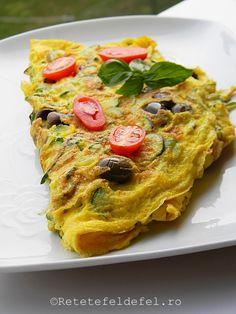 OMLETA CU DOVLECEI - Rețete Fel de Fel Vegetable Pizza, Quiche, Vegetables, Breakfast, Salads, Morning Coffee, Quiches, Vegetable Recipes, Vegetarian Pizza